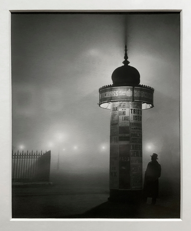 Brassaï (French, 1899-1984) Morris Column, avenue de l'Observatoire 1934 (installation view)
