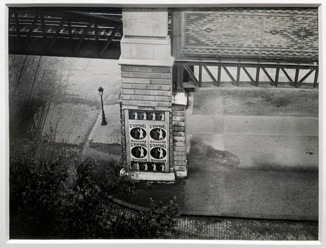 Brassaï (French, 1899-1984) 'Pillar of the Elevated, Metro Glacière' 1932 (installation view)