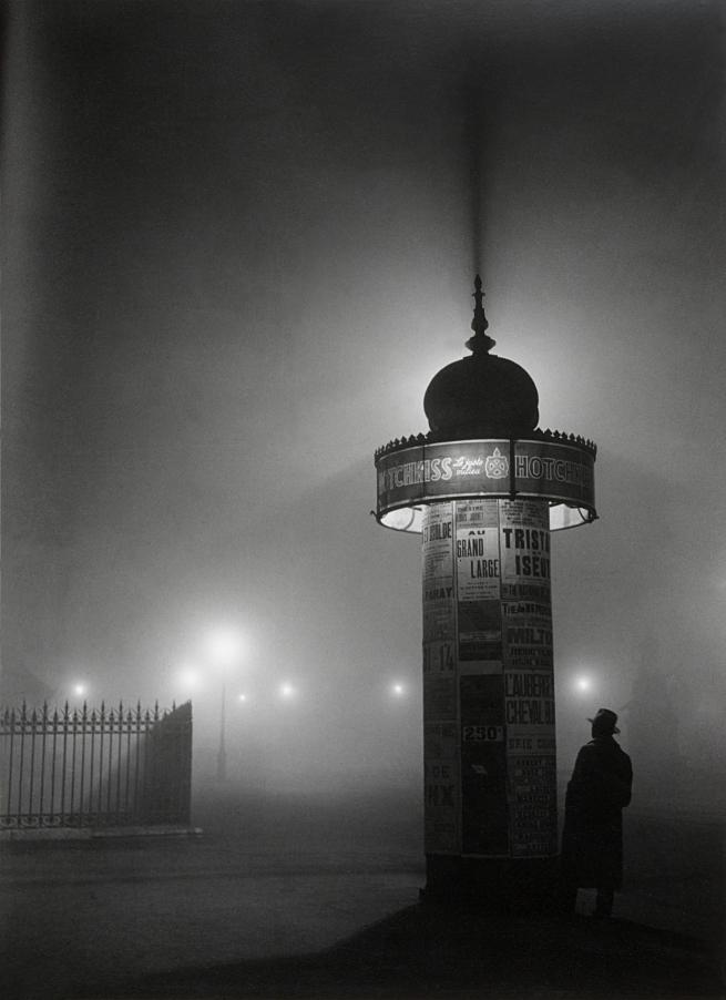 Brassaï (French, 1899-1984) 'Morris Column, avenue de l'Observatoire' 1934