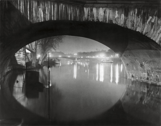 Brassaï (French, 1899-1984) 'View through the pont Royal toward the pont Solférino' c. 1933