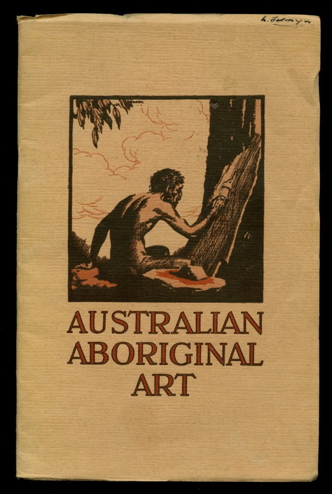 Cover of the pamphlet 'Australian Aboriginal Art' by Charles Barrett and A.S. Kenyon 1952