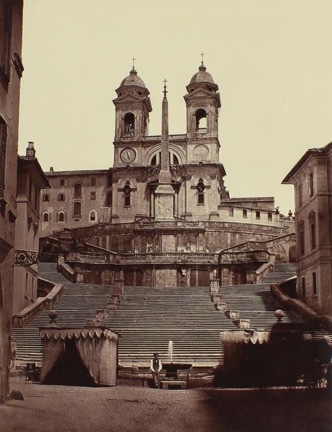 Pietro Dovizielli (Italian, 1804-1885) '[Spanish Steps, Rome]' c. 1855