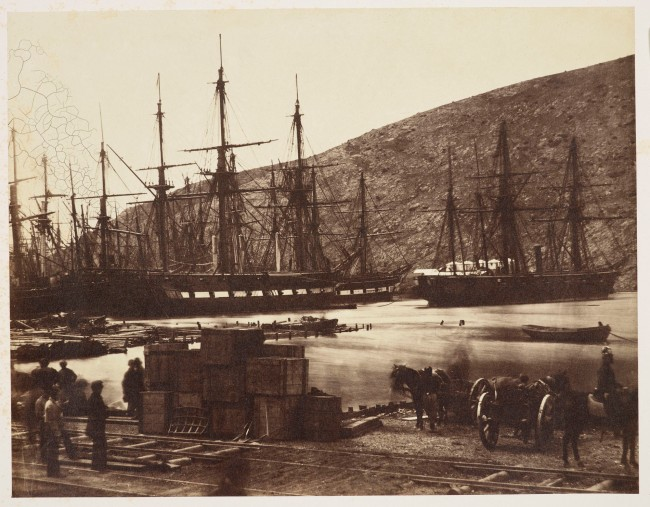 Roger Fenton (British, 1819-1869) 'The Diamond and Wasp, Balaklava Harbour' March, 1855
