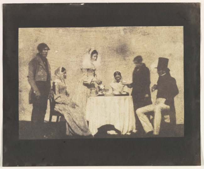 William Henry Fox Talbot (British, Dorset 1800 - 1877 Lacock) 'Group Taking Tea at Lacock Abbey' August 17, 1843