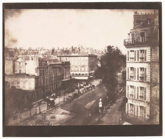 William Henry Fox Talbot (British, Dorset 1800-1877 Lacock) 'View of the Boulevards of Paris' 1843