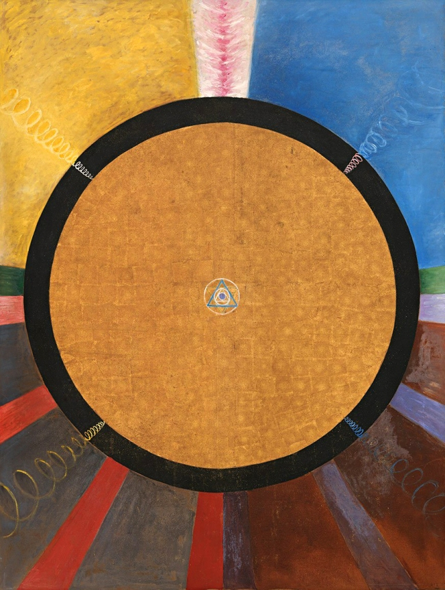 Hilma af Klint (Swedish, 1862-1944) 'Altarpiece Grupp X, No. 3' 1915