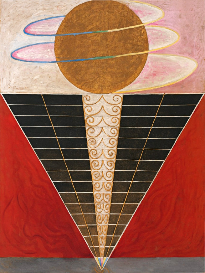 Hilma af Klint (Swedish, 1862-1944) 'Altarpiece Group X, No. 2' 1915