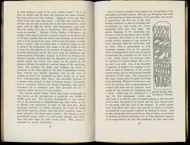"""The Art of the Australian Aboriginal"" by A.S. Kenyon in the pamphlet 'Australian Aboriginal Art' by Charles Barrett and A.S. Kenyon"