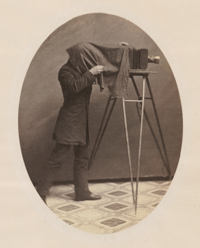 Unknown artist (American) '[Studio Photographer at Work]' c. 1855