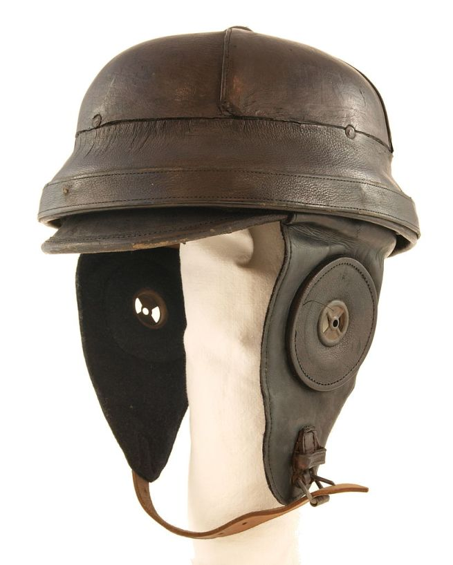 German pilot helmet of World War I. Dated to 1910s