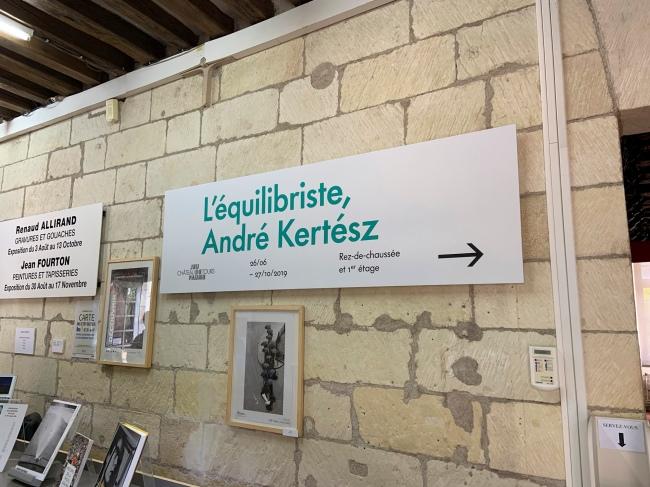 Entrance to the exhibition 'L'equilibriste, André Kertész' at Jeu de Paume, Château de Tours