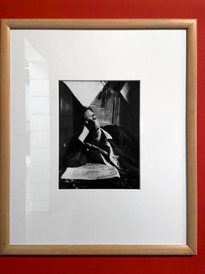 André Kertész (Hungarian, 1894-1985) 'Garçon endormi, Budapest' 'Sleeping boy, Budapest' 1912 (installation view)