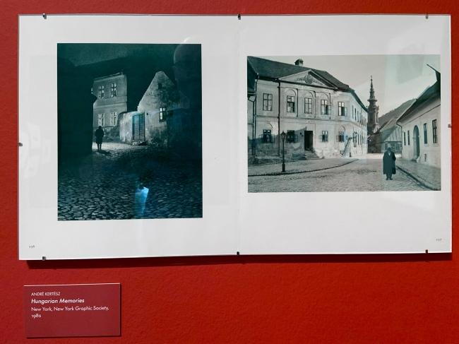 André Kertész (Hungarian, 1894-1985) 'Hungarian Memories'1982 (installation view)