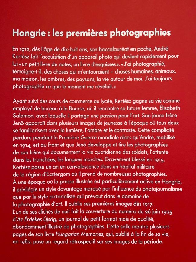 Text from the exhibition 'L'equilibriste, André Kertész' at Jeu de Paume, Château de Tours