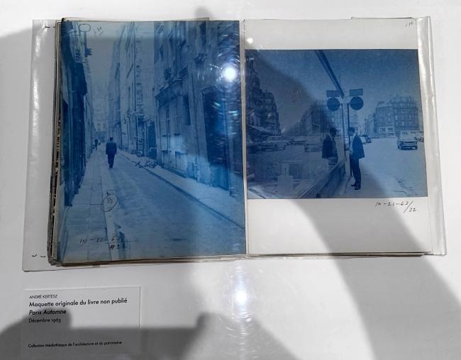 André Kertész (Hungarian, 1894-1985) 'Maquette originale du livre non publié Paris Automne' December 1963 (installation view)