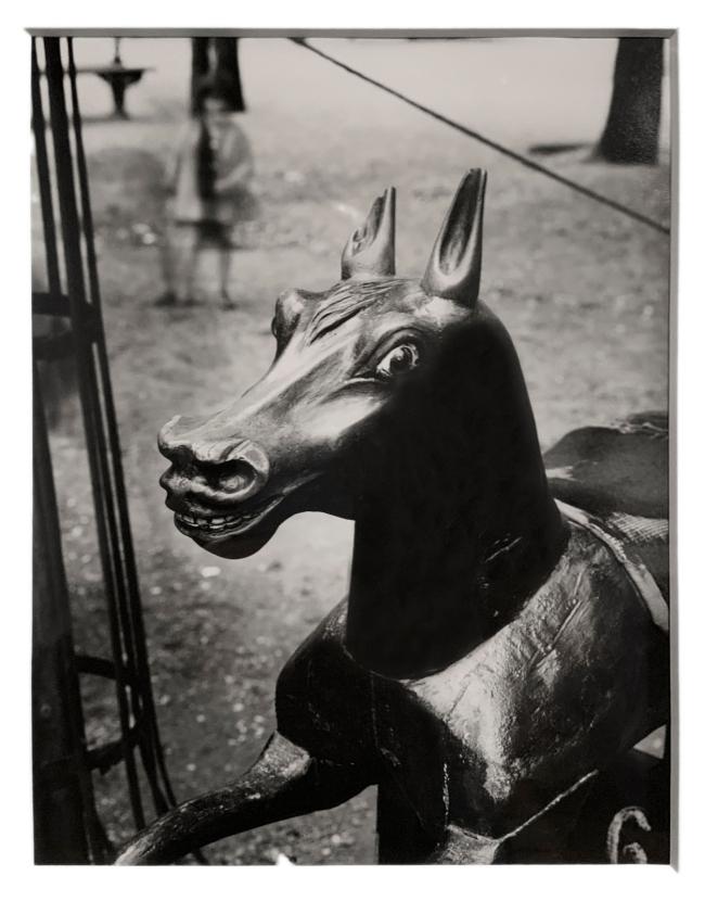 André Kertész (Hungarian, 1894-1985) 'Cheval de bois, Paris' 'Wooden horse, Paris' c. 1926 (installation view)