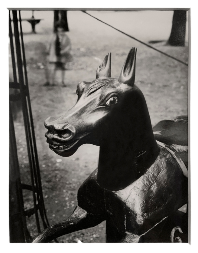 André Kertész (Hungarian, 1894-1985) 'Cheval de bois, Paris' 'Wooden horse, Paris' c. 1926 (installation view)