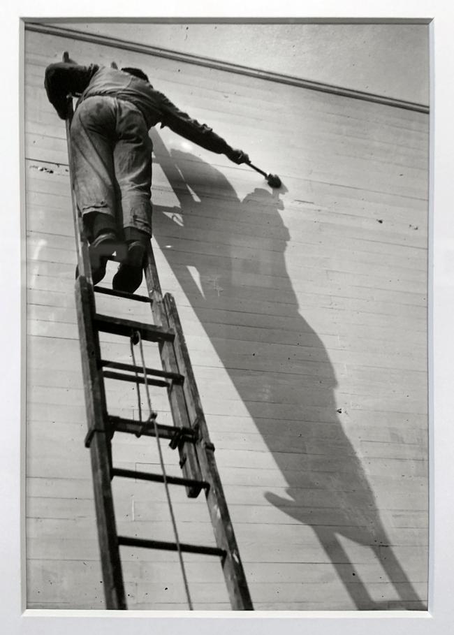 André Kertész (Hungarian, 1894-1985) 'Peintre d'ombre, Paris' 'Shadow painter, Paris' 1926 (installation view)