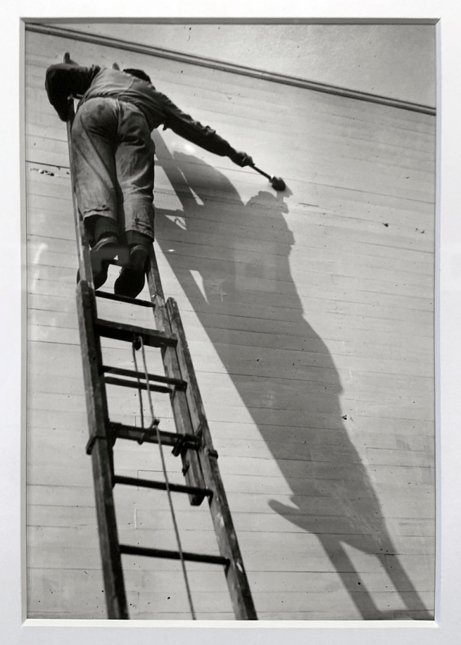 André Kertész (Hungarian, 1894-1985) 'Peintre d'ombre, Paris' 'Shadow painter, Paris' 1926 (installation view)