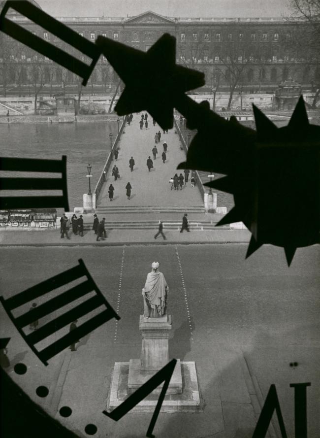 André Kertész (Hungarian, 1894-1985) 'Le pont des arts, Paris' 'The bridge of Arts, Paris' 1932