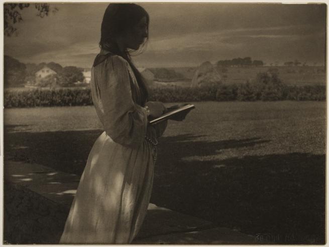 Gertrude Käsebier (American, 1852-1934) 'The Sketch (Beatrice Baxter)' 1903