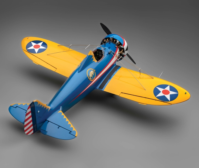 Edward Chavez (1917-2004) 'U.S. Army Air Corps Boeing P-26A model aircraft' 1972