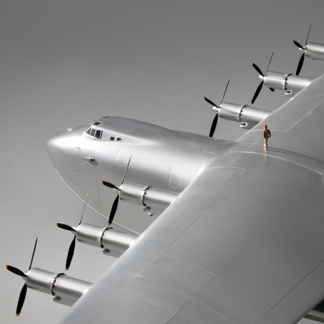Jim Lund. 'Hughes H-4 Hercules (Spruce Goose) flying boat model aircraft' 2002