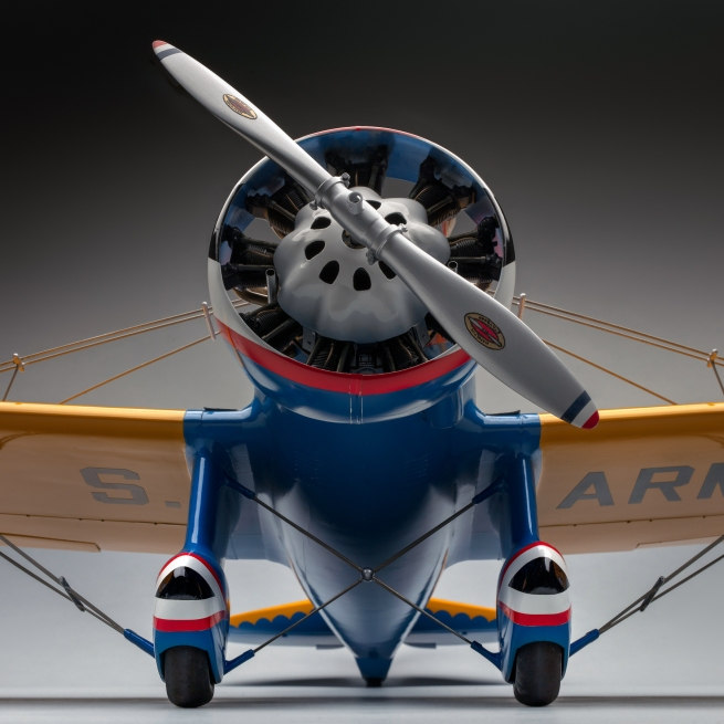 Edward Chavez. 'U.S. Army Air Corps Boeing P-26A (Peashooter) model aircraft' 1972