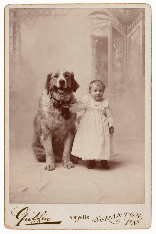 Charles L. Griffin, Scranton, PA. '[Toddler with dog]' c. 1892