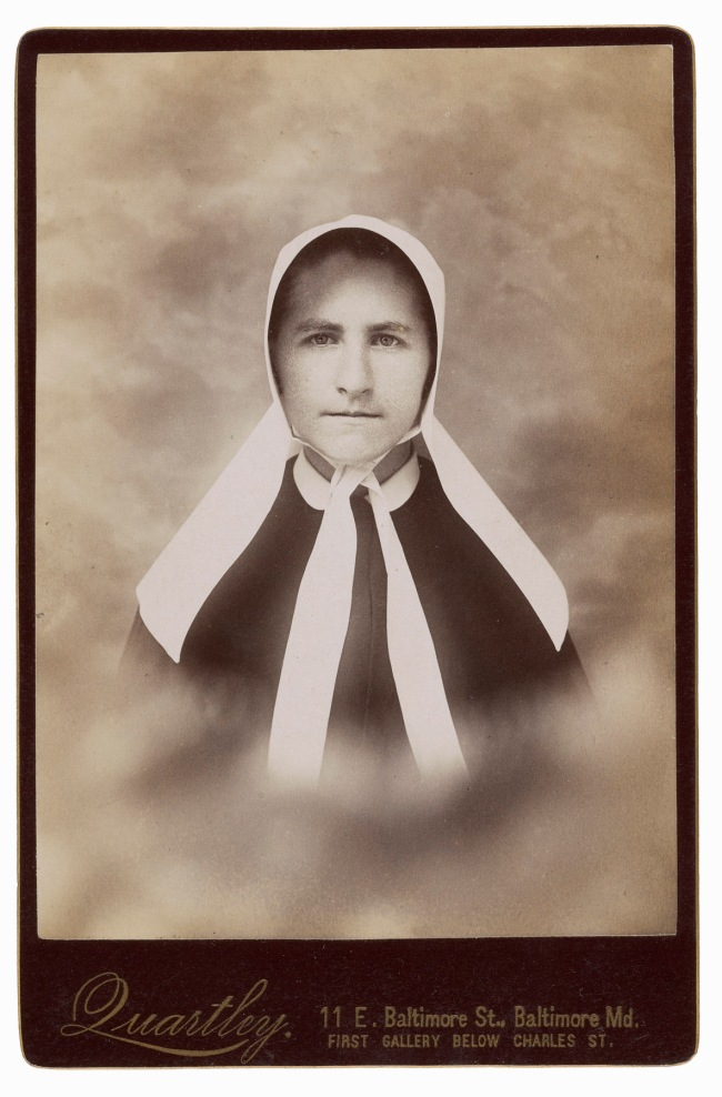 Charles Quartley, Baltimore, MD. '[Church woman]' 1880s