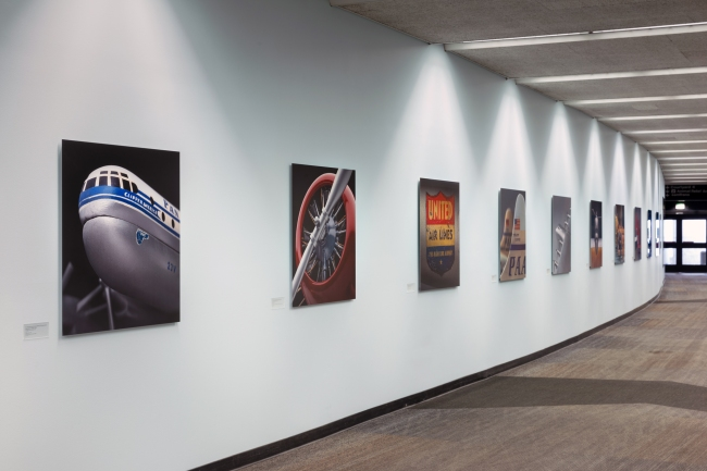 Installation views of the exhibition 'Model Aircraft' at SFO Museum, San Francisco International Airport
