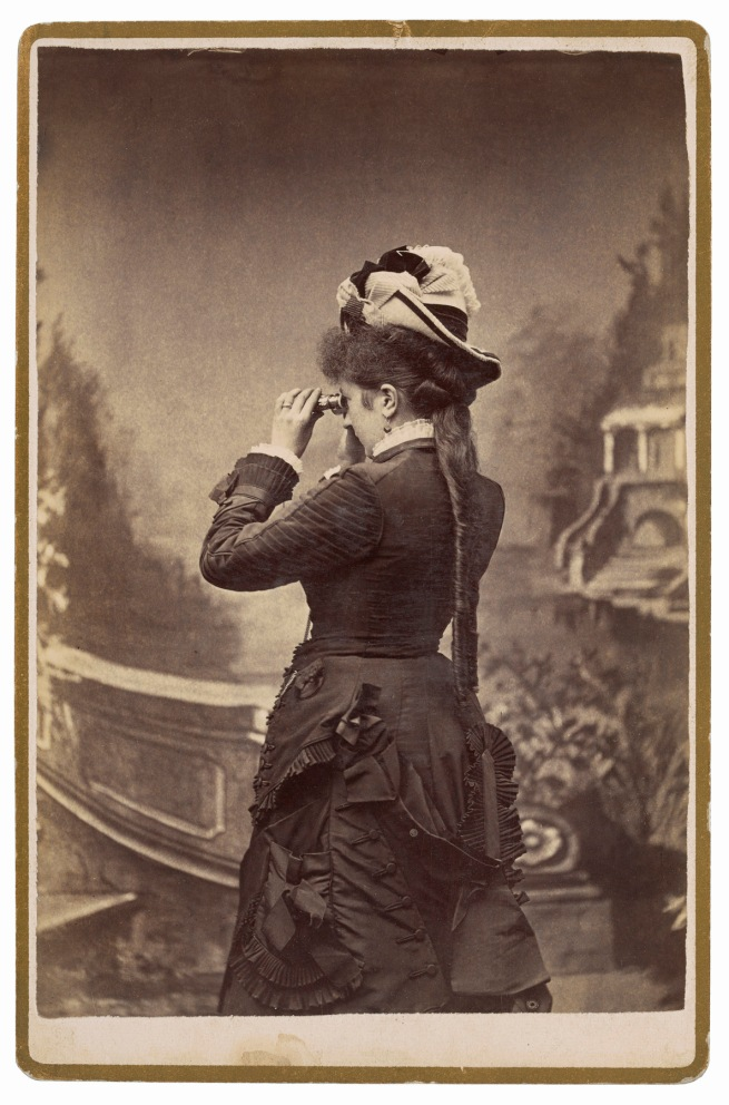 G. S. Smith, Salt Lake City, UT. '[Taking in the view]' c. 1880