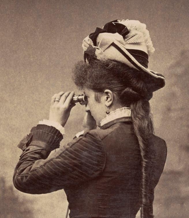 G. S. Smith, Salt Lake City, UT. '[Taking in the view]' c. 1880 (detail)