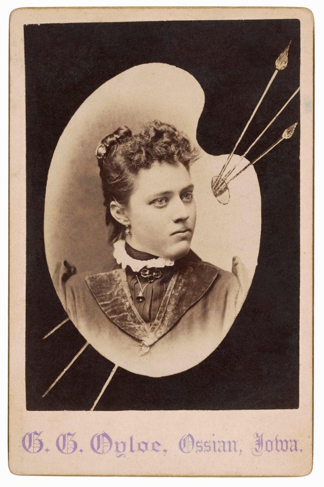 Gilbert G. Oyloe (American, 1851-1927) Ossian, IA. '[Woman]' 1880s