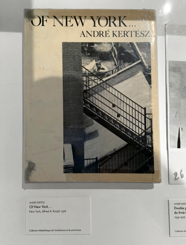 André Kertész (Hungarian, 1894-1985) 'Of New York…' New York, Alfred A. Knopf, 1976 (installation view)