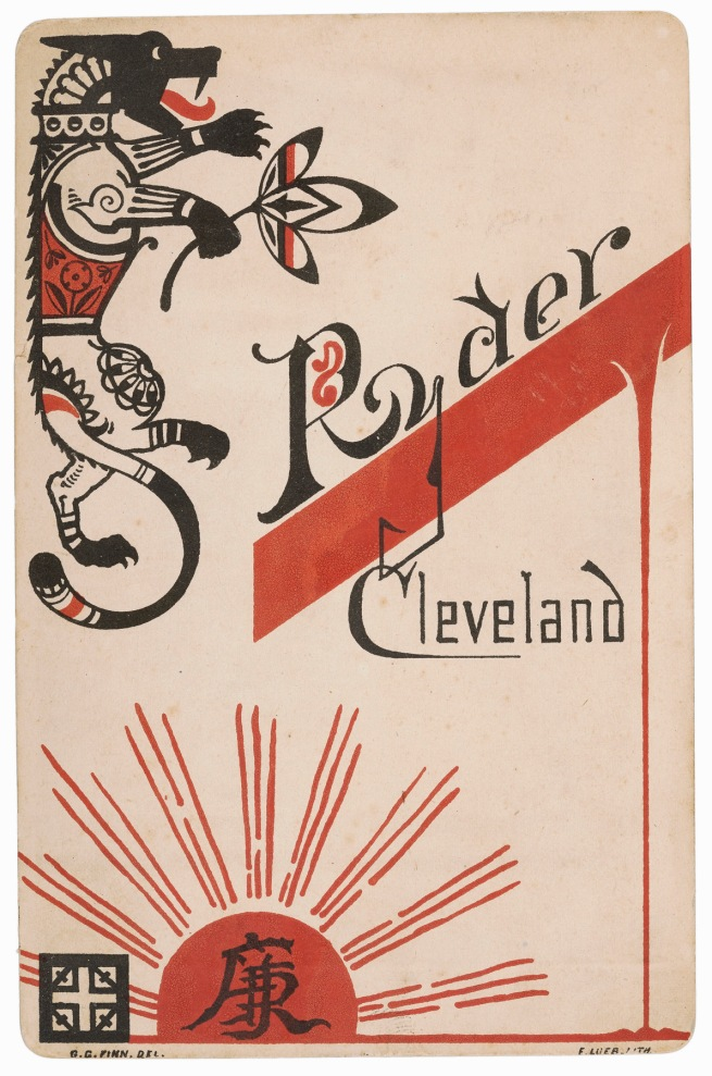 James F. Ryder, Cleveland, OH. 'Verso' 1880s