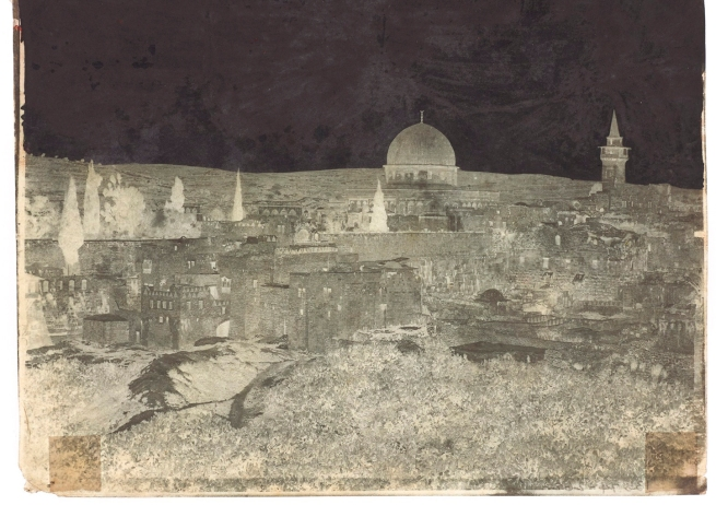 John Shaw Smith (British, 1811-1873) 'The Mosque of Omar, Jerusalem' April 1852