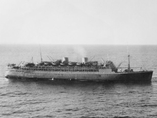 Johan van Oldenbarnevelt on the way to Fremantle, 1/8/1941