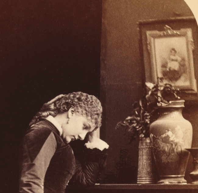 Napoleon Sarony, New York, NY. '[Fanny Davenport]' c. 1870 (detail)