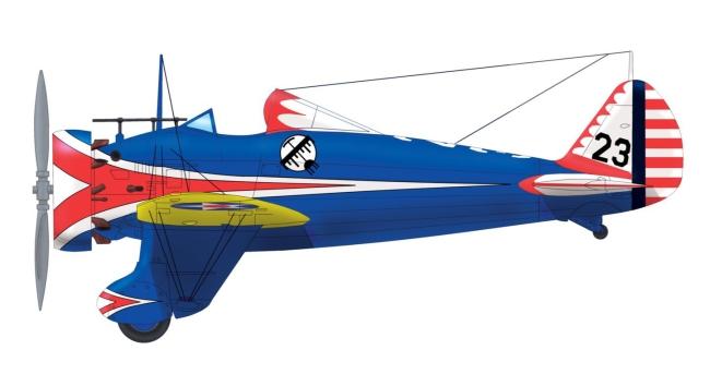 Martin Čížek. 'Boeing P-26A Peashooter of the 34th Pursuit Squadron 17th Pursuit Group' 1933-1936 (production run)