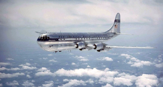 'Pan American World Airways Boeing 377 Stratocruiser' 1950s