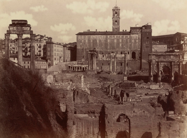 Unidentified maker. 'The Roman Forum' c. 1885