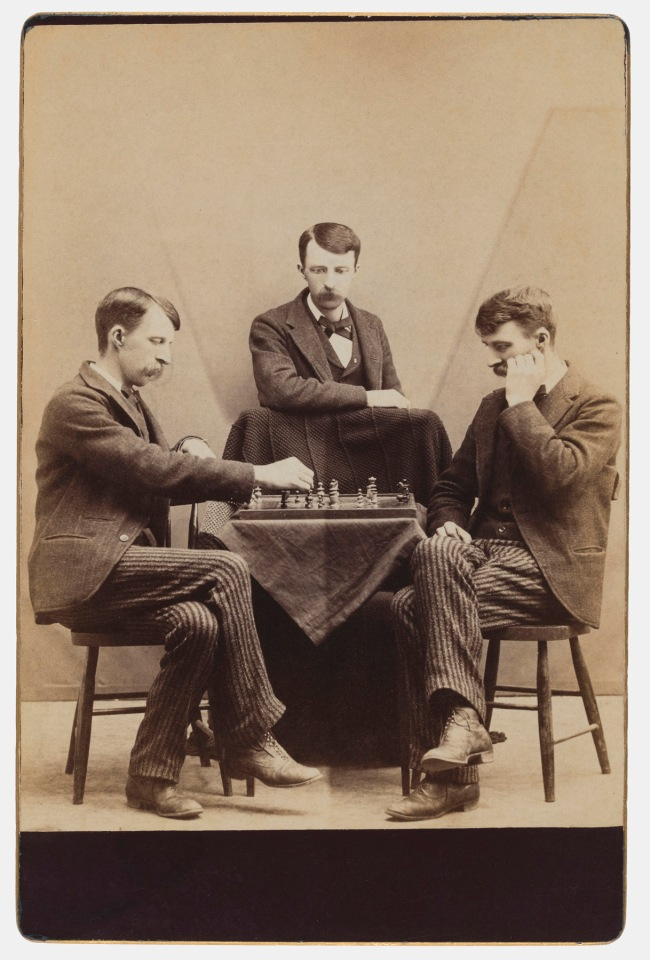 Unknown photographer. '[Chess against myself]' 1880s