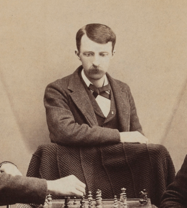 Unknown photographer. '[Chess against myself]' 1880s (detail)