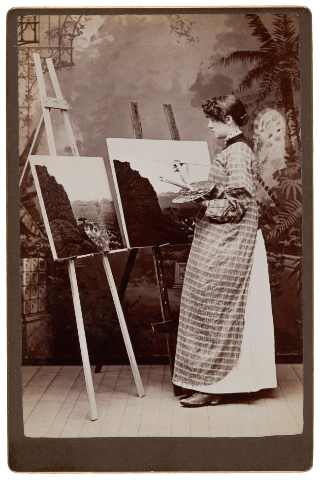 Unknown photographer. '[Painter]' 1890s