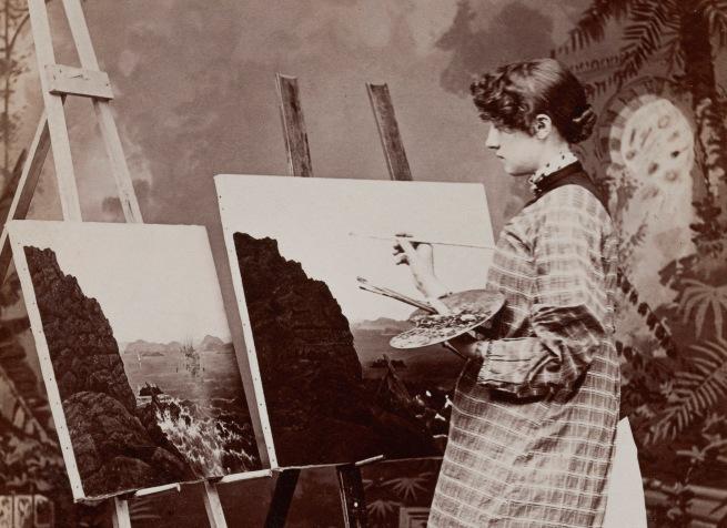 Unknown photographer. '[Painter]' 1890s (detail)