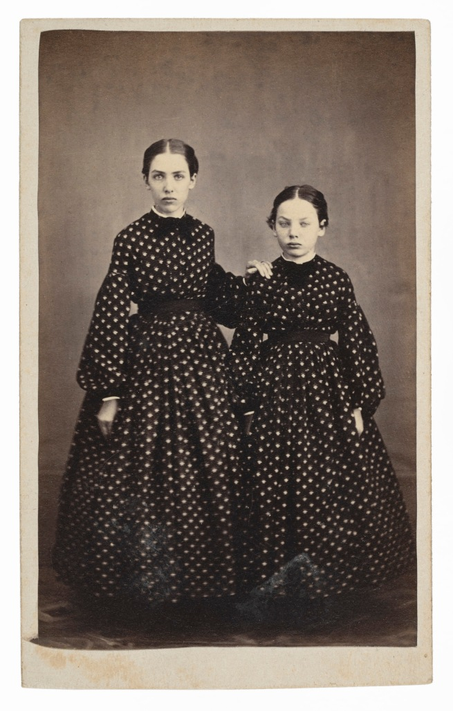 Unknown photographer. '[Two girls]' 1864