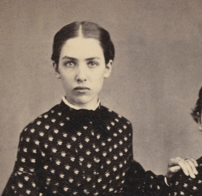 Unknown photographer. '[Two girls]' 1864 (detail)