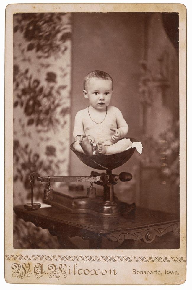 W. A. Wilcoxon, Bonaparte, IA. '[Baby]' 1890s