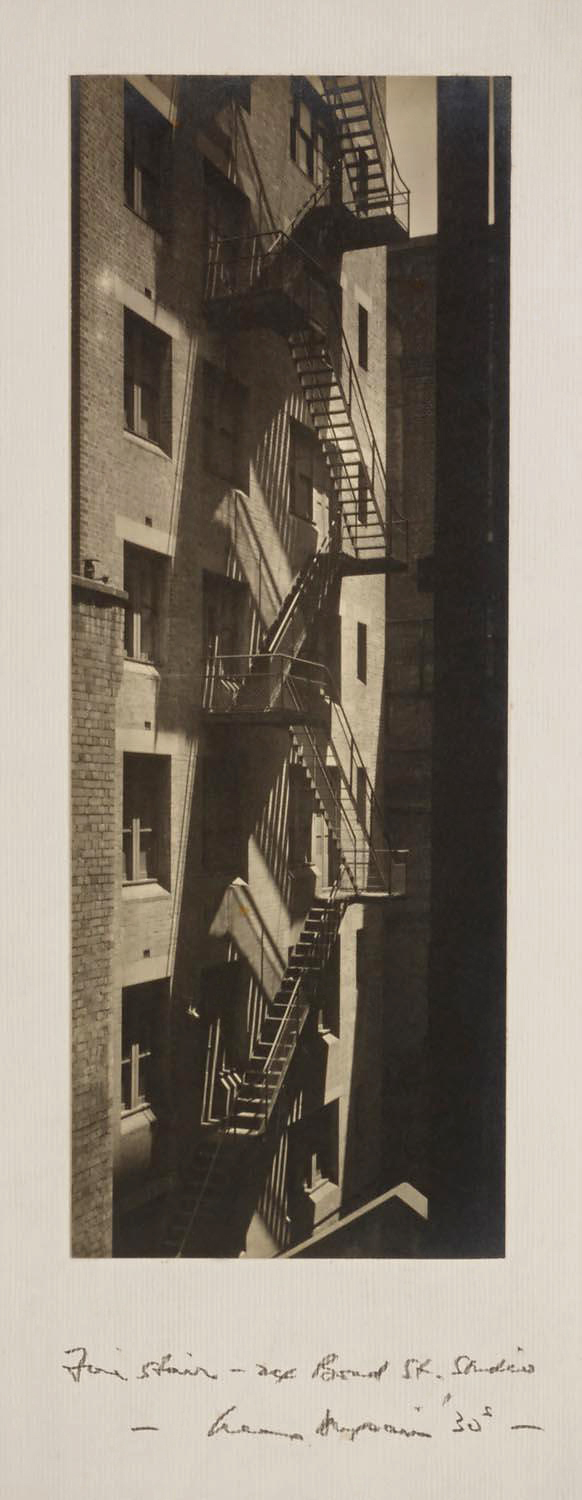 Max Dupain. 'Fire Stairs at Bond Street Studio' 1930s